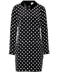 Victoria silk polka dot shift dress medium 198741