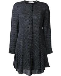 Black Polka Dot Shirtdress