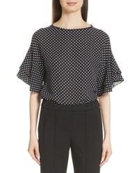 Michael Kors Polka Dot Silk Tte Blouse