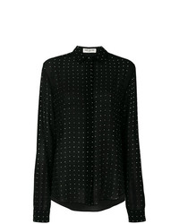 Saint Laurent Polka Dot Sheer Shirt