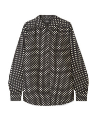 Marc Jacobs Polka Dot Silk Satin Shirt