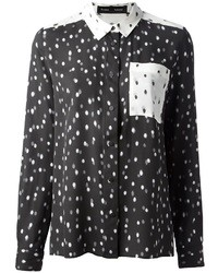 Proenza schouler polka dot silk shirt medium 9015