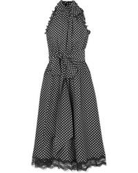Marc Jacobs Med Ruffled Polka Dot Silk Dress