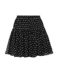 Saint Laurent Polka Dot Silk Tte Mini Skirt