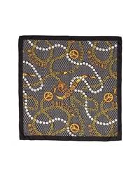 Moschino Pearl Chain Silk Scarf