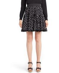 Dolce & Gabbana Dolcegabbana Polka Dot Silk Skirt