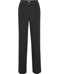 Equipment Lita Polka Dot Silk Twill Wide Leg Pants