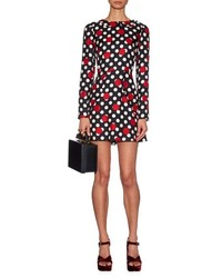 Red Valentino Redvalentino Polka Dot Silk Mini Dress