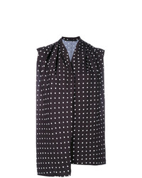 Haider Ackermann Scoop Front Polka Dot Top