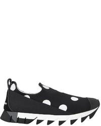 Dolce & Gabbana 30mm Polka Dot Neoprene Slip On Sneakers