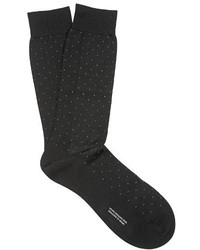 Pantherella Gadsbury Pin Dot Cotton Blend Socks