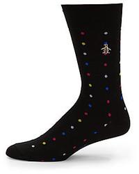 Original Penguin Polk Dot Pima Cotton Socks