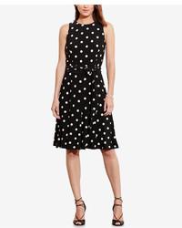 Lauren Ralph Lauren Polka Dot Print Jersey Dress