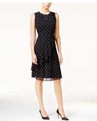 Maison Jules Polka Dot Ruffled A Line Dress Only At Macys
