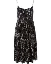 Saint Laurent Polka Dot Print Cami Dress