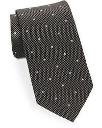 Black & Brown Black Brown Classic Polka Dot Tie