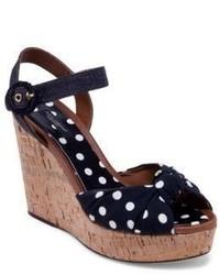 Dolce & Gabbana Polka Dot Cork Wedge Sandals