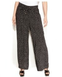Ellen Tracy Wide Leg Polka Dot Pants
