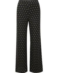 Stine Goya Magic Mervidelux Metallic Embroidered Polka Dot Knitted Wide Leg Pants