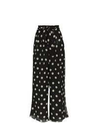 Nanushka Nevada High Waisted Polka Dot Wide Leg Trousers