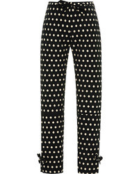 Vivetta Iulli Cropped Polka Dot Trousers