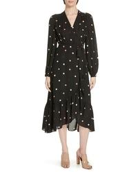 kate spade new york Bakery Dot Midi Wrap Dress