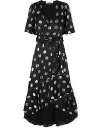 Diane von Furstenberg Sareth Fil Coup Wrap Effect Dress