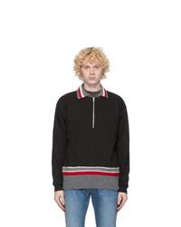 Maison Margiela Black Half Zip Sweatshirt