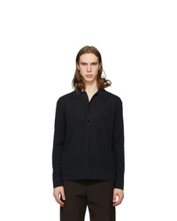 Bottega Veneta Black Knitted Pique Polo