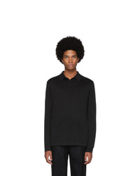 Sunspel Black Sea Island Knit Polo