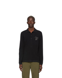 LHomme Rouge Black Togetherness Long Sleeve Polo