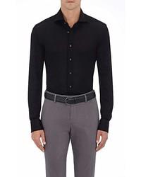 Cifonelli Cotton Piqu Long Sleeve Polo Shirt