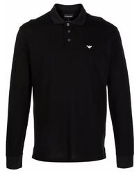 Emporio Armani Embroidered Logo Long Sleeved Polo Shirt