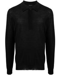 Roberto Collina Long Sleeve Merino Polo Shirt