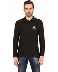 Long Sleeved Cotton Pique Polo Shirt