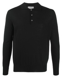 Canali Long Sleeved Knitted Polo Shirt