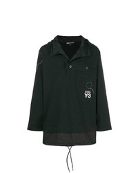 Y-3 Stand Collar Button Detail Pullover