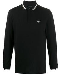 Emporio Armani Striped Collar Polo Shirt