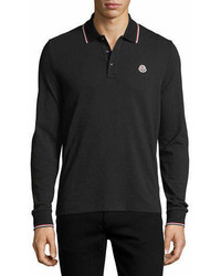 Moncler Tipped Long Sleeve Polo Shirt