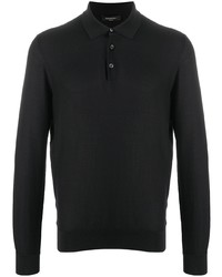 Ermenegildo Zegna Waffle Knit Silk Polo Shirt