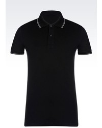Armani Jeans Polo Shirt In Cotton Pique