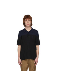 Burberry Black And Navy Brayton Polo