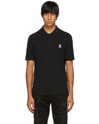 Moschino Black Embroidered Teddy Polo
