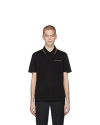 Versace Black Greek Key Polo