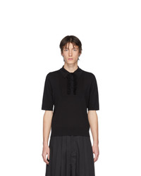Dries Van Noten Black Jamiro Polo