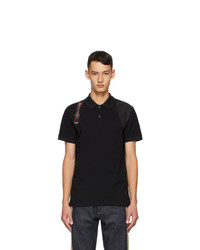 Alexander McQueen Black Logo Harness Polo