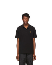 CARHARTT WORK IN PROGRESS Black Pique Chase Polo