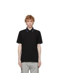 Z Zegna Black Stretch Cotton Polo