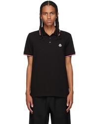 Moncler Black Tricolor Polo