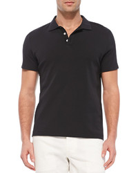 Theory Boydcensus Short Sleeve Polo Black